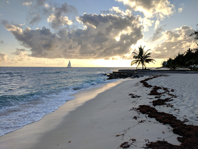 Sunset at Drill Hall Beach, Bridgetown, Barbados