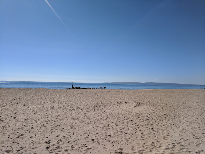 Bournemouth Beach in September